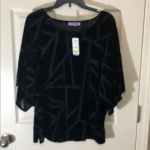 Black velvet top size small. New with tags.